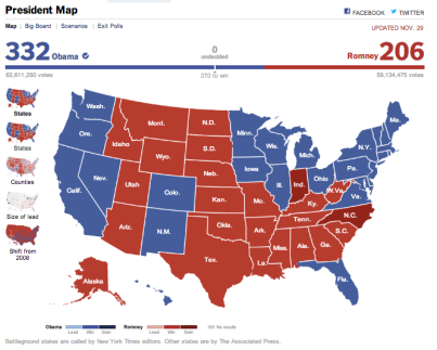 NYT, New York Times, Election, Map, 2012