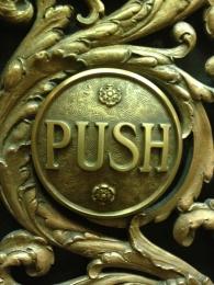 Chicago City Hall Elevator Button